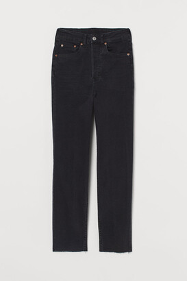H&M Mom High Ankle Jeans - Black