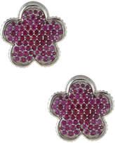 Lagos 18mm Ruby Flower Stud Earrings