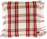 Gant Tartan Check Cushion - Mid Red