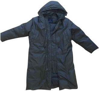 Moncler Long Grey Synthetic Jackets & Coats