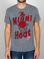 Junk Food Clothing Nba Miami Heat Time-out Triblend Tee-steel-l