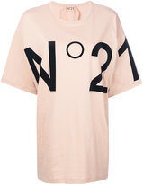 No.21 logo print T-shirt - women - Cotton - One Size