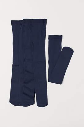 H&M 5-pack Lightweight Tights - Blue