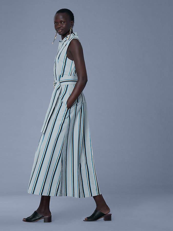 Diane von Furstenberg Sleeveless Belted Maxi Dress