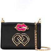 DSQUARED2 DD shoulder bag - women - Suede/Satin/metal - One Size
