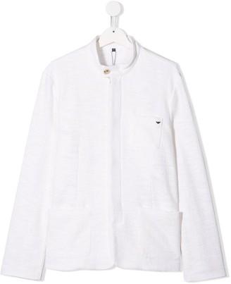 Emporio Armani Kids collarless fitted blazer
