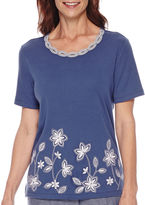 Alfred Dunner St. Augustine Short-Sleeve Appliqu Top