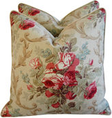 One Kings Lane Vintage Ralph Lauren Cottage Rose Pillows, Pr