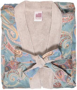 Etro Bellay Printed Cotton Kimono Bathrobe