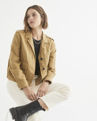 ese O ese - Linen Military Style Summer Jacket - S