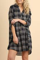 Umgee USA Plaid Pocket Tunic