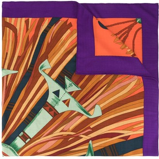 Hermes Pre-Owned Rays Print Scarf
