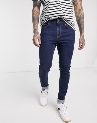 LDN DNM muscle fit jeans in dark blue