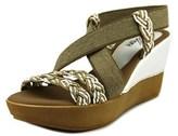 Azura Rosemont Women Open Toe Leather White Wedge Sandal.