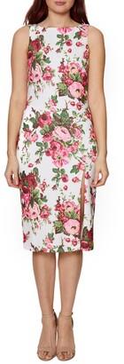 Betsey Johnson Boatneck Floral Print Dress
