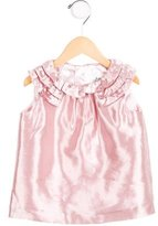 Milly Minis Girls' Ruffle-Trimmed Satin Top
