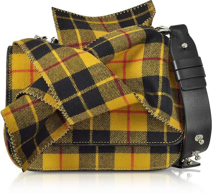 N°21 Tartan Wool Bow Mini Shoulder Bag