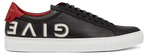 Givenchy Urban Street Low Top Leather Trainers - Mens - Black Red