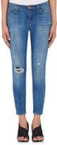 J Brand Women's Distressed Mid-Rise Capri Jeans
