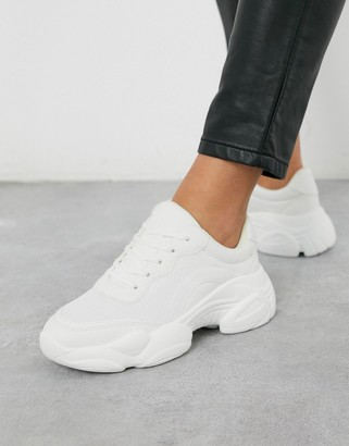 Asos DESIGN Destined chunky sneakers in white