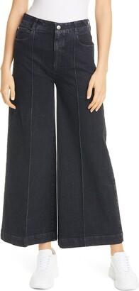 Stella McCartney High Waist Wide Leg Crop Jeans