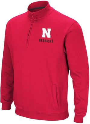 Colosseum Men's Scarlet Nebraska Cornhuskers Big & Tall Playbook Fleece Quarter-Zip Pullover Jacket