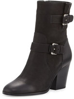 MICHAEL Michael Kors Ashton Mid Leather Bootie, Black