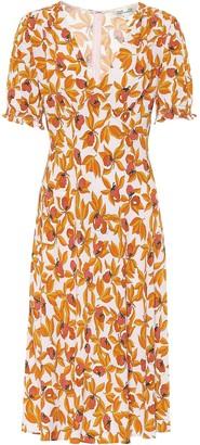 Diane von Furstenberg Idris floral crepe midi dress