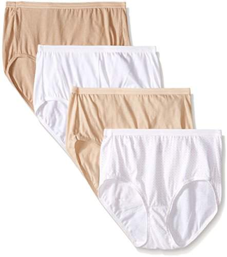 Hanes Women's Ultimates Brief Panties (Pack of 4)