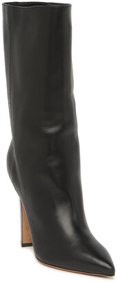 Valentino Snakeskin Embossed Rogue Pointy Toe Bootie