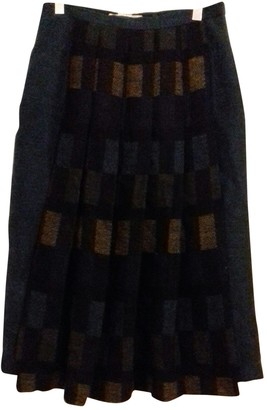 Ted Lapidus Blue Wool Skirt for Women Vintage
