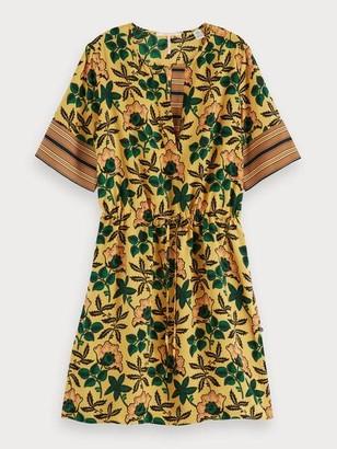 Maison Scotch Silky Mix Print Dress - XS / 91 - Combo L