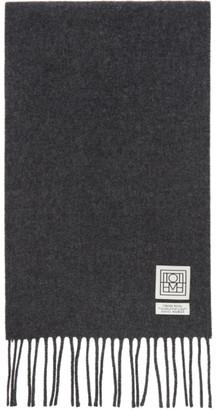 Totême Grey Wool Bova Scarf