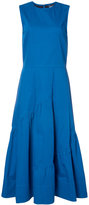 Derek Lam gathered detail flared dress - women - Cotton/Elastodiene - 36