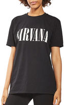 Topshop PETITE Nirvana Holey T-Shirt by And Finally