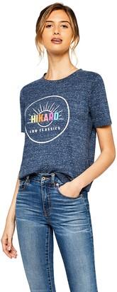 Amazon Brand - Hikaro Women's Oversized Crew Neck T-Shirt Multicolour (Gingham Black / Gingham Red) 12 Label:M