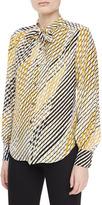 Jason Wu Silk Printed Ascot Blouse