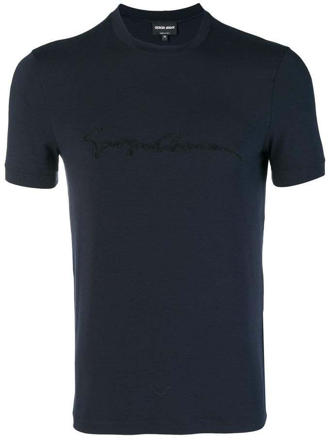 Giorgio Armani short-sleeve fitted T-shirt