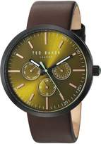 Ted Baker Men's 'JACK' Quartz Stainless Steel and Leather Dress Watch, Color:Brown (Model: 10031502)