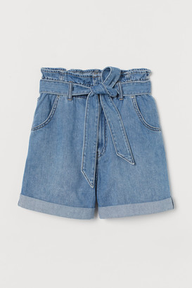 H&M Denim paper bag shorts