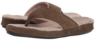 Acorn Suede Spa Thong (Ash) Women's Sandals