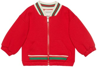 Gucci Baby cotton jacket with Web