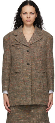Ganni Multicolor Recycled Wool Oversize Blazer