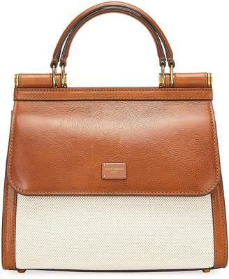 Dolce & Gabbana Canvas And Leather Shoulder Bag