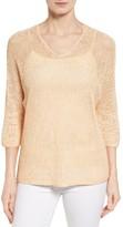 Nic+Zoe Women's Sunkissed Sheer Linen Blend Pullover