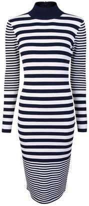 MICHAEL Michael Kors Stripped Ribbed Stretch Dress