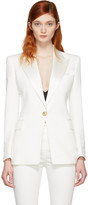Balmain White Single Button Blazer