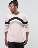 Asos Chevron Stripe Design Jumper