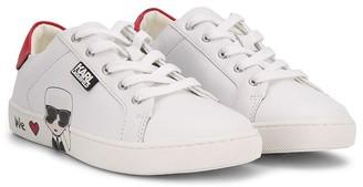 Karl Lagerfeld Paris K/Ikonik lace-up sneakers
