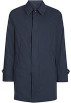 Aquascutum Claye Single Breasted Raincoat, Navy